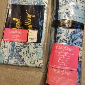 Lilly pulitzer apron/grilling set